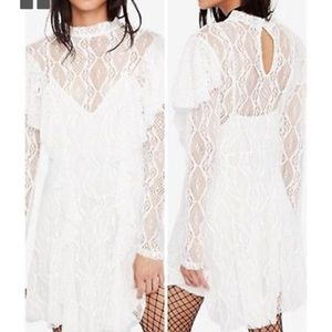 FREE PEOPLE🌼❤️🌼NWT long sleeve lace dress!